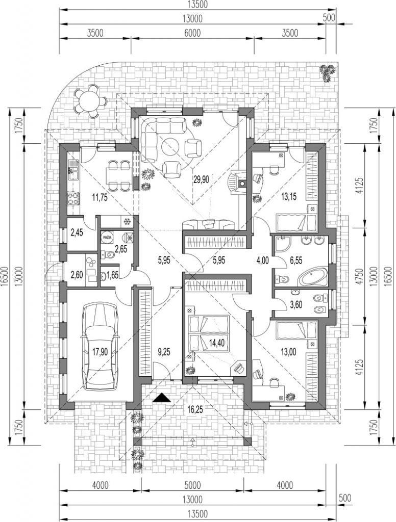 Projekt domu Dekor 0